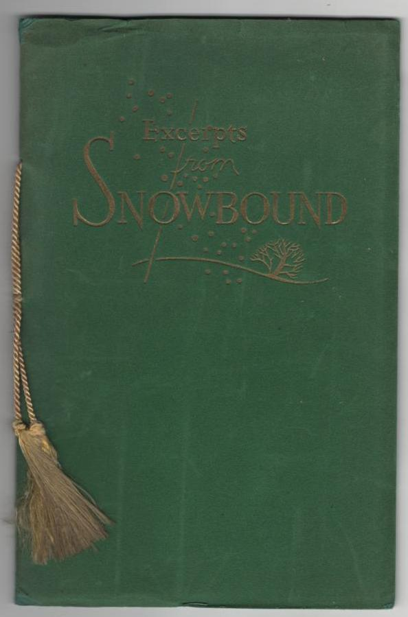 Image for Excerpts from Snow-Bound: A Winter Idyl.