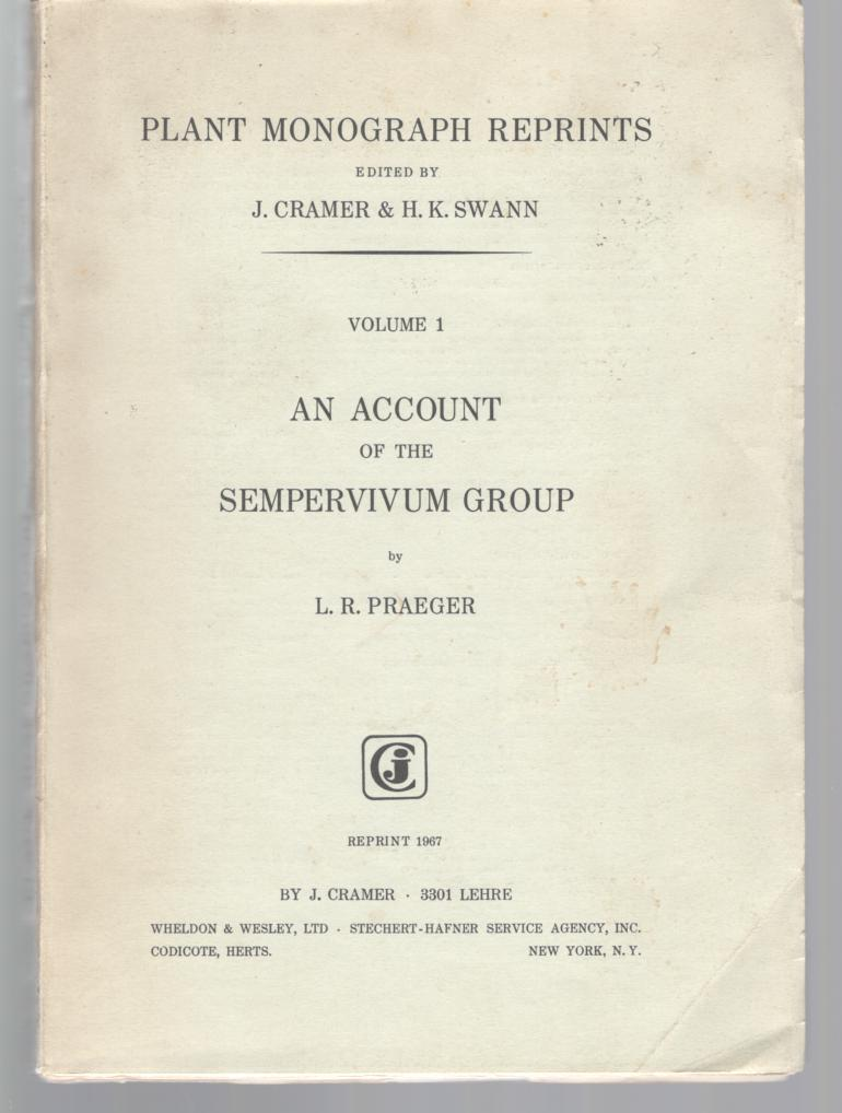 Image for An Account of the Sempervivum Group (Plant Monograph Reprints)